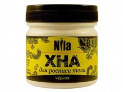 Nila Хна  для бровей и биотату черная, 100 г