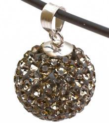 Подвеска с кристаллами цвета черный бриллиант (шарик)