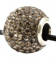 Подвеска с кристаллами цвета черный бриллиант