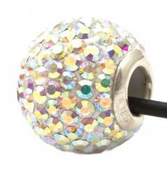 Подвеска с кристаллами переливающаяся (шарик)