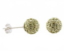 Серьги гвоздики с кристаллами