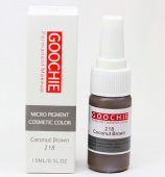Пигмент для перманентного макияжа (татуажа) Goochie 218 Coconut brown -