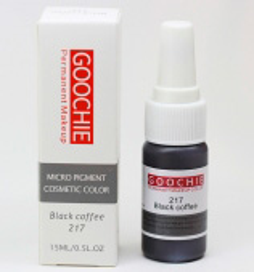 Пигмент для перманентного макияжа (татуажа) Goochie 217 Black coffee -