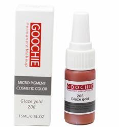 Пигмент для перманентного макияжа (татуажа) Goochie 206 Glaze gold -
