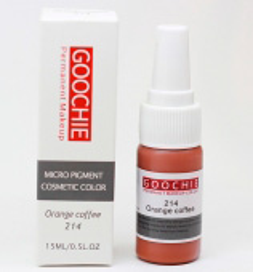 Пигмент для перманентного макияжа (татуажа) Goochie 214 Orange coffee -