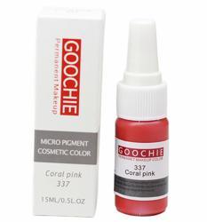 Пигмент для перманентного макияжа (татуажа) Goochie 337 Coral pink -