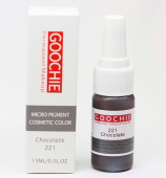 Пигмент для перманентного макияжа (татуажа) Goochie 221 Chocolate -