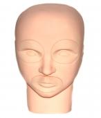 Муляж головы для татуажа со сменными глазами и губами