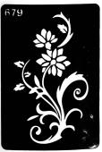 Трафарет для временных тату №679
