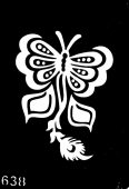 Трафарет для временных тату №638