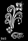 Трафарет для временных тату №593