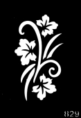 Трафарет для временных тату №829