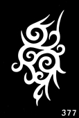 Трафарет для временных тату №377