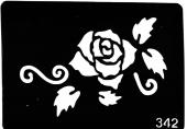 Трафарет для временных тату №342