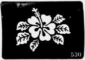 Трафарет для временных тату №530