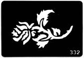 Трафарет для временных тату №332