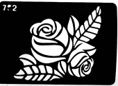 Трафарет для временных тату №702