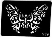 Трафарет для временных тату №539