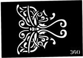 Трафарет для временных тату №360