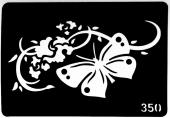 Трафарет для временных тату №350