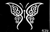 Трафарет для временных тату №639