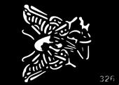 Трафарет для временных тату №326