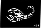 Трафарет для временных тату №433