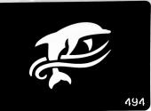 Трафарет для временных тату №494