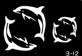 Трафарет для временных тату №b-12
