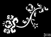 Трафарет для временных тату №318