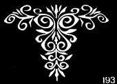 Трафарет для временных тату №193