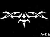 Трафарет для временных тату №a-09