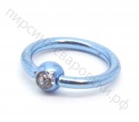 Пирсинг кольцо с камнем